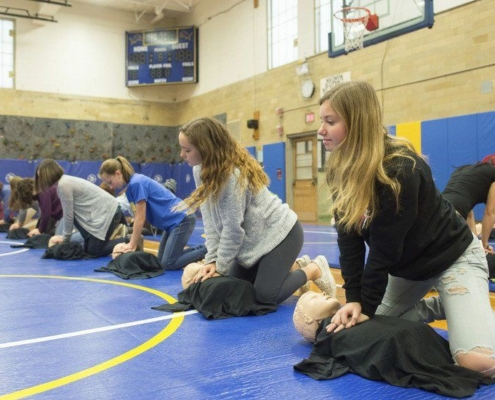 Kids Learning CPR